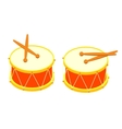 Drum and drum sticks vector image