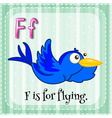 Flashcard letter F is for flying vector image