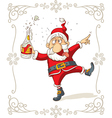 Drunk Santa Dancing Cartoon vector image