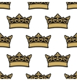 Royal golden crowns seamless pattern vector image
