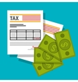 Government taxes payment vector image