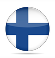 button with flag of Finland vector image
