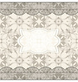 Background with seamless pattern lacy borders and vector image