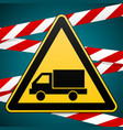 beware of the car safety warning sign vector image