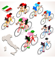 Cyclist 2016 Giro Italia Isometric People vector image