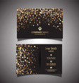 gold glitter business card 1309 vector image