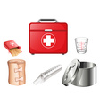Medical supplies vector image