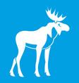 Moose icon white vector image