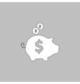 Piggy bank computer symbol vector image