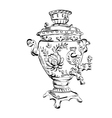 Russian samovar sketch tea vector image