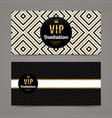 template design for vip invitation vector image