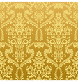 Seamless floral vintage gold wallpaper vector image