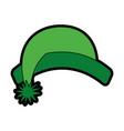 cute christmas hat cartoon vector image