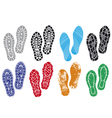collection of a imprint soles shoes vector image vector image