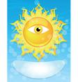 sun with eye vector image