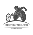 athlete wheelchair Icon vector image