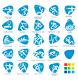 Paralympics Icon Pictograms Set 5 vector image