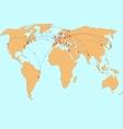 avia map vector image