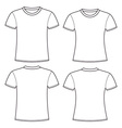 Blank t-shirts template vector image