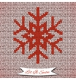 Seamless pattern with knitted snowflake vector image