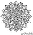 Tibetan mandala decorative ornament design vector image