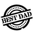 Best Dad rubber stamp vector image