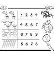 counting game coloring page vector image vector image