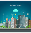 modern building and landmark smart city vector image