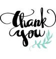 thank you calligraphy design vector image