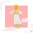 Angel girl greeting card vector image
