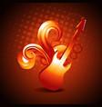 golden color guitar vector image