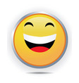 laughing icon vector image vector image