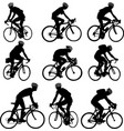 bicyclists silhouette - vector image vector image