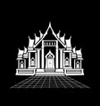 temple vector image
