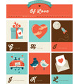 Valentines day ABC alphabet poster vector image
