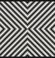 black and white stripes seamless crossing pattern vector image