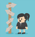 Business Woman choice vector image