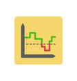 Chart ico vector image