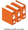 Folders with records Isometric vector image