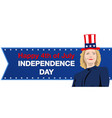 hillary clinton independence day vector image