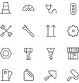 Thin Line Icons For Industrial vector image