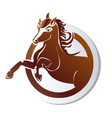 Horse icon logo vector image vector image