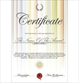 Colorful certificate template vector image