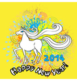 happy new horse year vector image