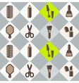 seamless background with female stuff vector image