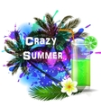 Crazy Summer background with green juice vector image
