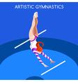 Gymnastics Uneven Bars 2016 Summer Games 3D vector image vector image
