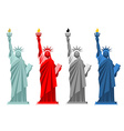 Statue of Liberty Colorful attraction in America vector image