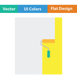 Wall painting icon vector image