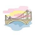 Bridge icon in cartoon style isolated on white vector image